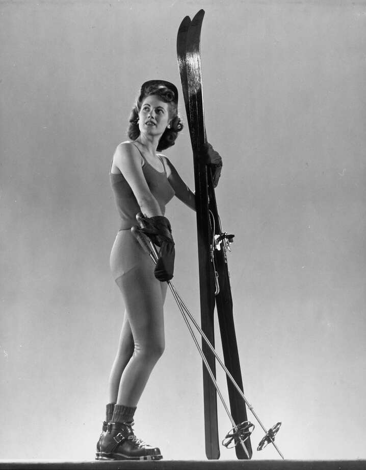 1942: Model wearing long wool ski underwear. Photo: Gjon Mili, Time & Life Pictures/Getty Image