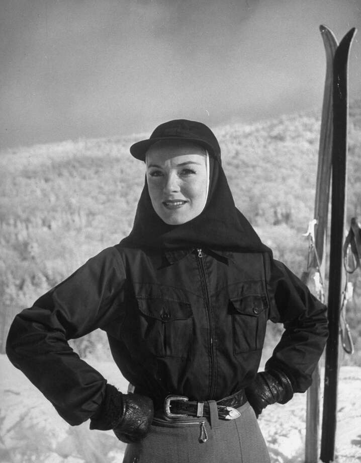 1944: Model wearing coif under cap to keep both ears and neck warm while skiing on Mont Tremblant. Photo: Alfred Eisenstaedt, Time & Life Pictures/Getty Image