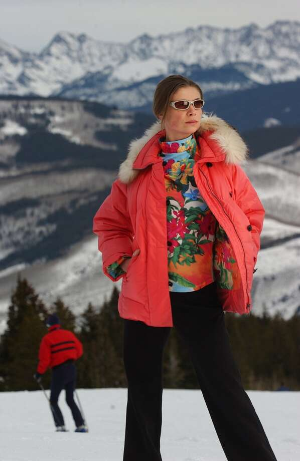 2004: Colorful and trendy ski fashion taken on the slopes of Beaver Creek Ski resort. Photo: Glenn Asakawa, Denver Post Via Getty Images