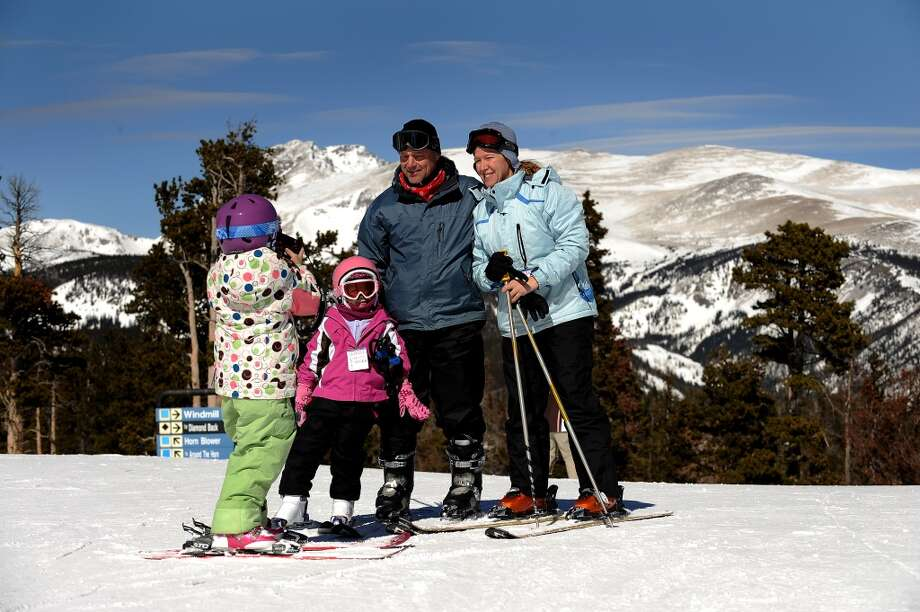 2011: 7 year old Brooke Hornbeck takes a photo of her family at the top of Eldora Ski Area in Colorado. Photo: Helen H. Richardson, Denver Post Via Getty Images