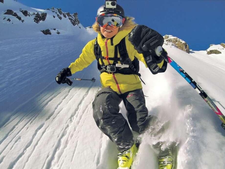 2013: Ski fashion now calls for helmet cams. Photo: Associated Press