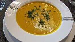 Butternut squash soup at La Balance