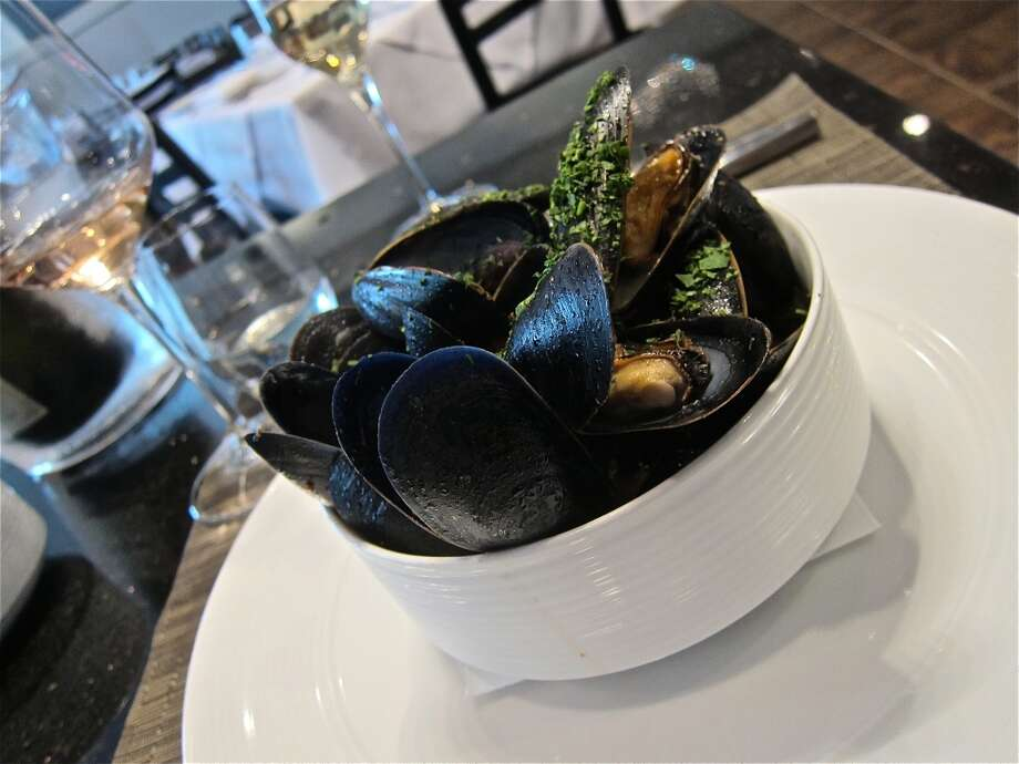 Mussels Provencale with Kalamata olives at La Balance Photo: Alison Cook