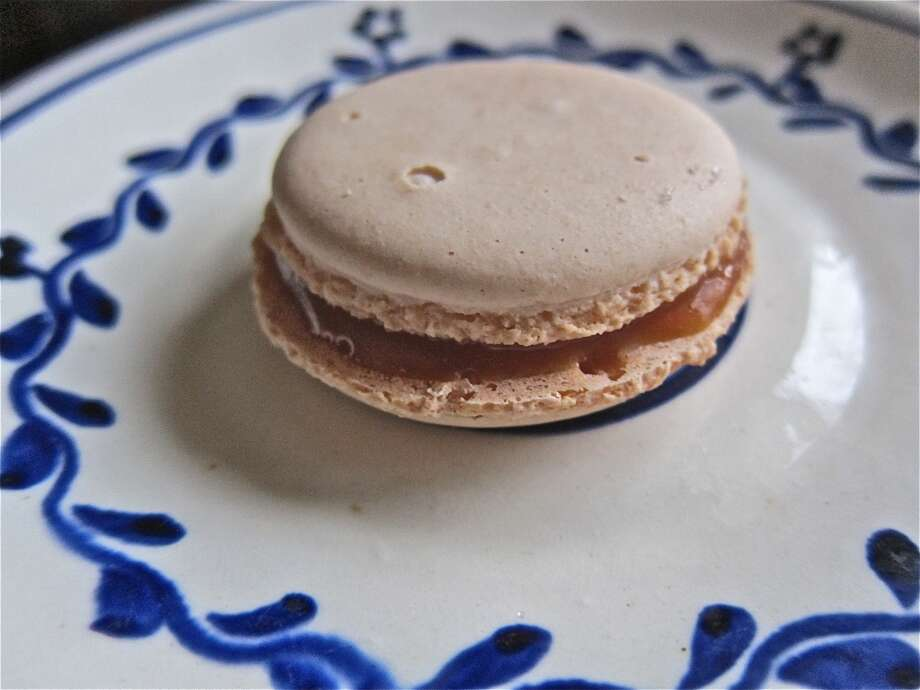 Salted caramel macaron from La Balance Photo: Alison Cook