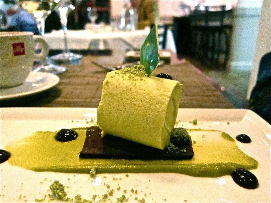 Pistachio dessert at La Balance
