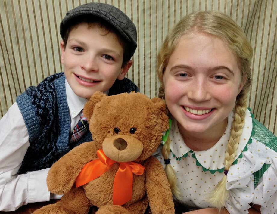 "Carter Popkin of Branford and Dani Corrigan of Fairfield are starring the Pantochino production of ""The Great Cinnamon Bear Christmas Radio Show"" at the Center for the Arts in Milford Dec. 7 to 29. Photo: Contributed Photo / Connecticut Post Contributed"