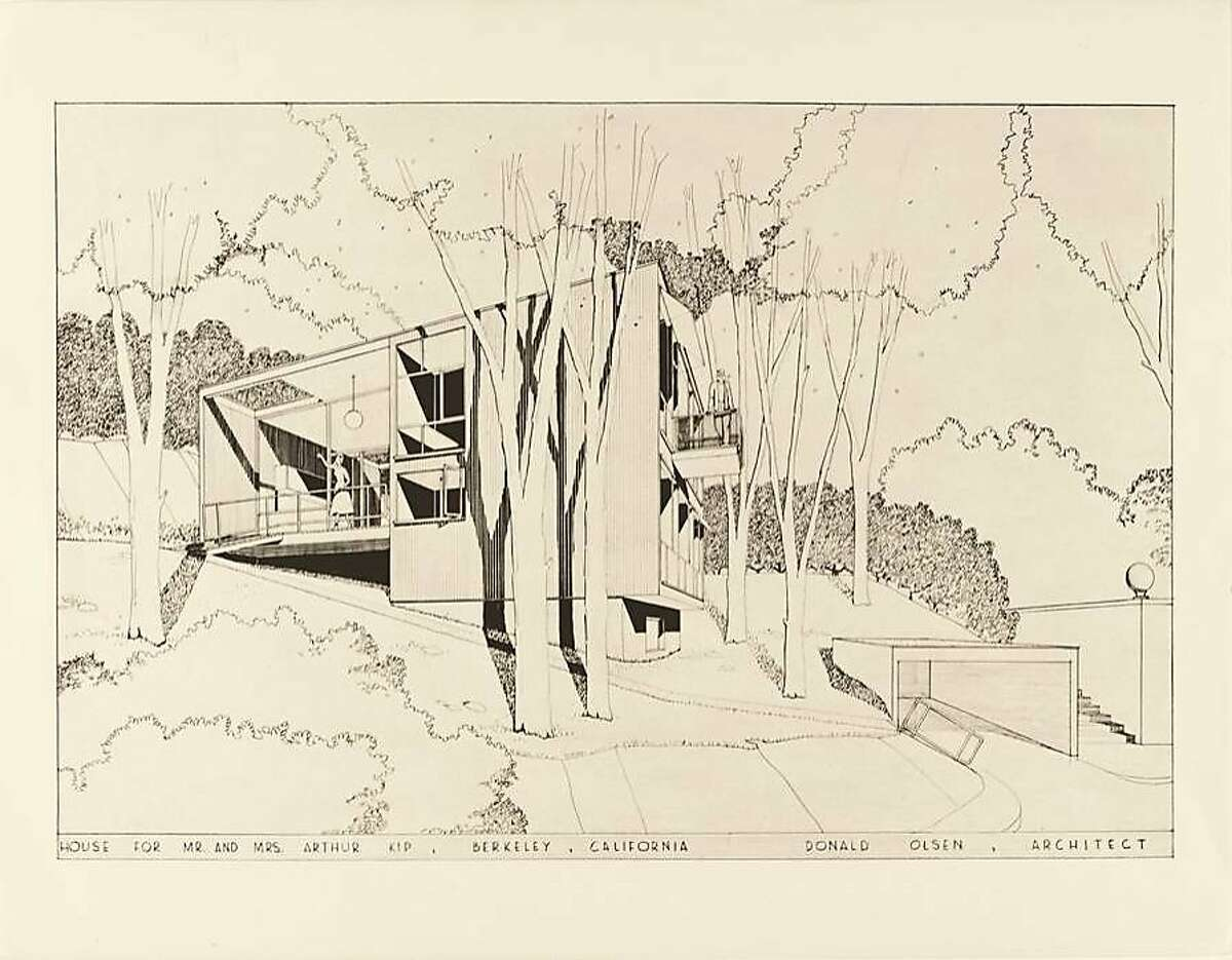 The Kip House in the Berkeley hills, from 1952, is one of architect Donald Olsen's most well-regarded houses. From the 2013 book