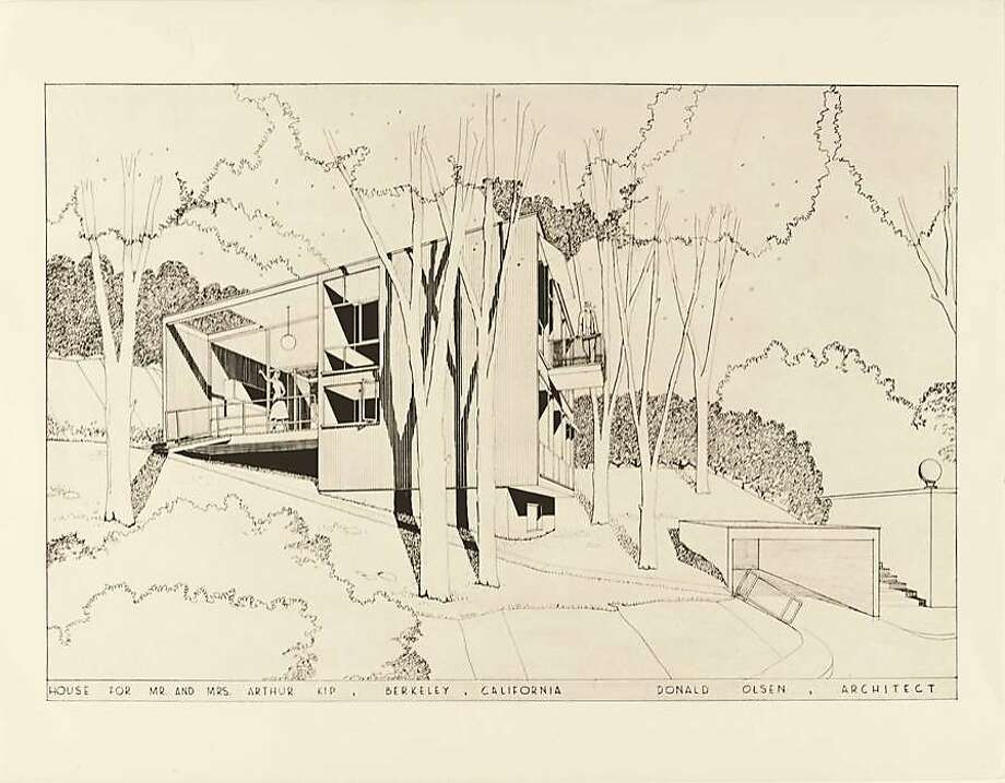 "The Kip House, circa 1952, from ""Donald Olsen: Architect of Habitable Abstractions."" Photo: Donald Olsen"
