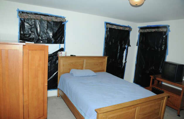 Photo of the south end bedroom (shooter's room) at 36 Yoganda Street from the Report of the State's Attorney for the Judicial District of Danbury on the Shootings at Sandy Hook Elementary School and 36 Yoganda Street, Newtown, Connecticut. Photo: State's Attorney's Office / Connecticut Post contributed