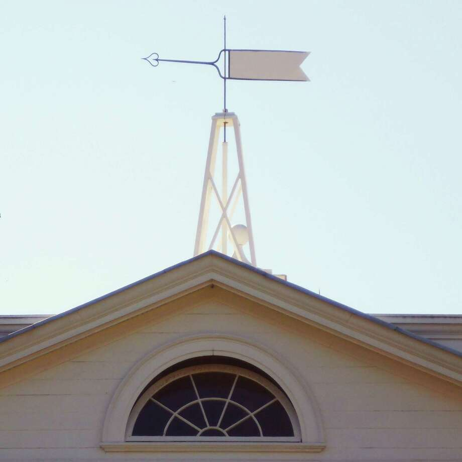 This wind vane atop the front porch of Monticello indicates the wind direction on a dial in the ceiling of the porch. Photo: Forrest M. Mims III / For The Express-News