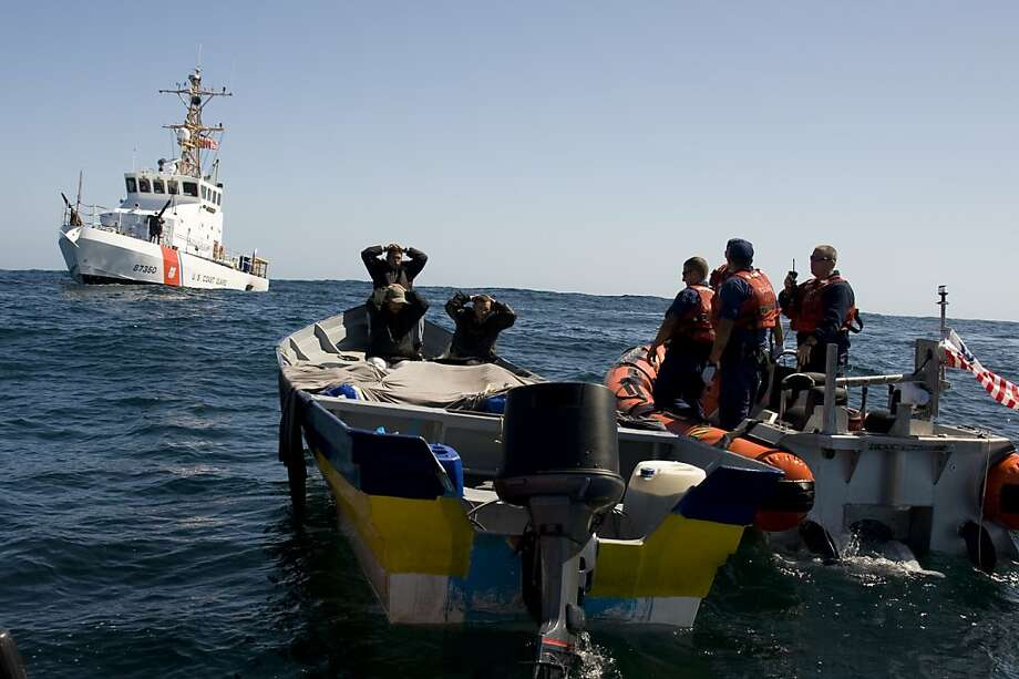 "As drug smugglers face tougher restrictions on land, they turn to ""panga"" use off Northern California's coast. Photo: Henry Dunphy, U.S. Coast Guard"