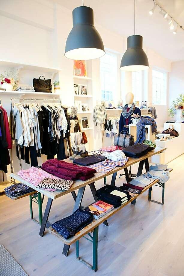 Fashion designer duo Josh and Lauren Podoll opened a storefront at 251 Primrose Rd.,  Burlingame) in October. Photo: Ashley Batz