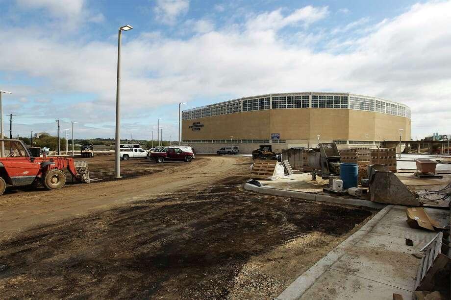 Renovations are ongoing at Alamo Stadium on Nov. 26, 2013. Photo: Kin Man Hui, San Antonio Express-News / ©2013 San Antonio Express-News