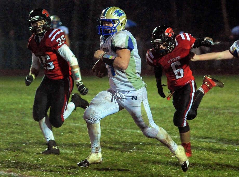 (10) Cooper Gold. I can say that name all day long without it ever getting old. Rock-solid name for the powerful running back who helped Newtown to a great season in 2013. Photo: Christian Abraham / Connecticut Post