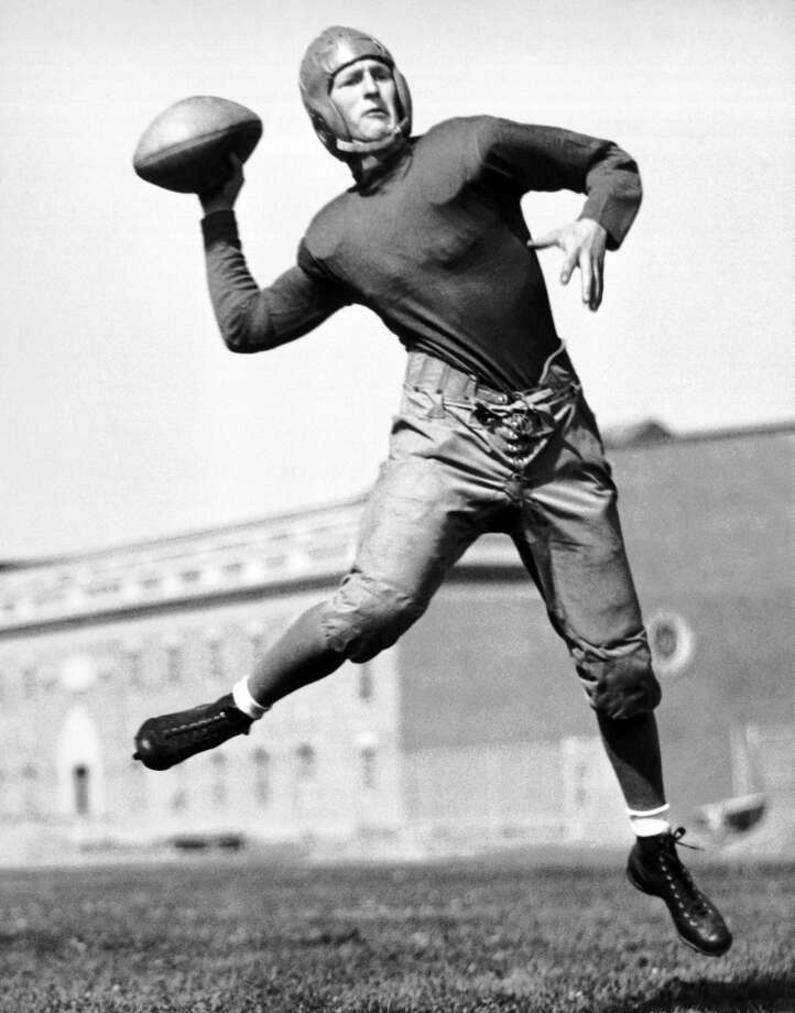 The early yearsAfter 109 meetings, the Huskies lead the all-time series against the Cougars 71-32-6. And while Montlake has certainly earned that edge, things were quite different back in the early era of the Apple Cup. Pictured here is Phil Sarboe, the Washington State College quarterback in 1933, when the Cougars beat the Huskies 17-6 in Pullman. Several of the early rivalry games ended in a tie. The last draw came in 1942, when the teams battled to a (thrilling?) 0-0 result at Husky Stadium. The first-ever meeting between the schools, in 1900 in Seattle, ended in a 5-5 tie. Photo: Underwood Archives, Getty Images / ©Underwood Archives