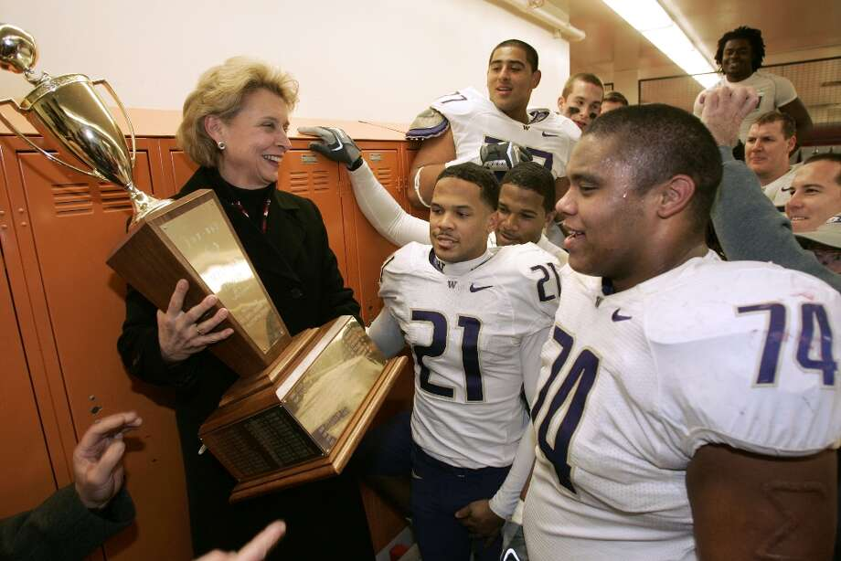 """2006: Washington 35, Washington State 32While the Huskies floundered in the aftermath of the Barbara Hedges/Rick Neuheisel scandal, the Cougars were looking for a chance to get back to a bowl game after a three-year drought. But the 4-7 Dawgs spoiled it for the Cougs with several game-changing plays. Wide receiver Cody Ellis grabbed a one-handed reception on a 64-yard pass; fullback Marcel Reese had a 69-yard touchdown catch; linebacker Chris Stevens blocked a punt that was returned for a TD; Marlon Wood returned a WSU kickoff 87 yards to set up a game-tying score; and running back Louis Rankin took a 77-yard run to the end zone early in the fourth quarter. Asked which play killed his Cougs, Doba said, """"All of them."""" Photo: John Froschauer, Associated Press / AP"""