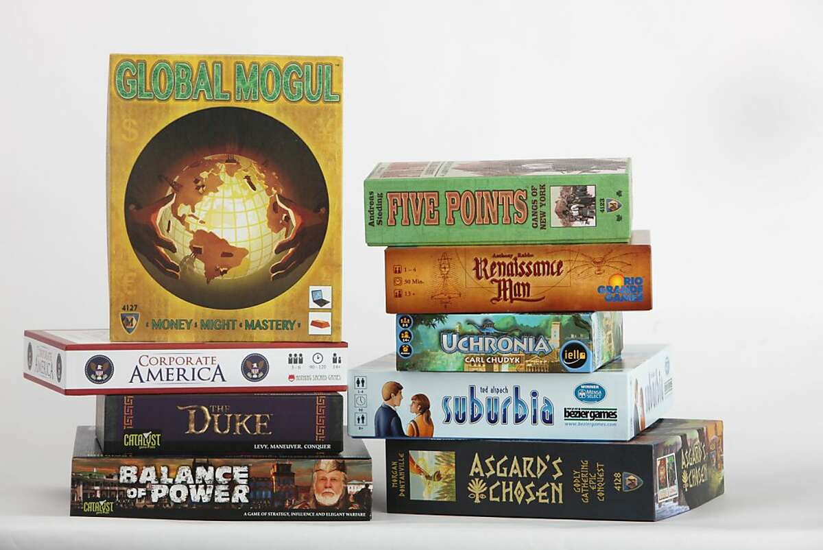 A selection of strategy games for the annual consumer guide to the year's board games on Tuesday, November 26, 2013 in San Francisco, Calif.