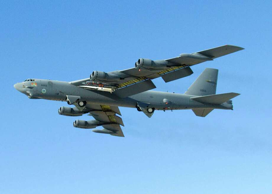 "A pair of American B-52s like this Stratofortress flew over a disputed area of the East China Sea without notifying Beijing, despite China's bid to create an expanded ""air defense zone."" U.S. officials said the flight was a training mission that had been planned in advance. Photo: Getty Images / File Photo"