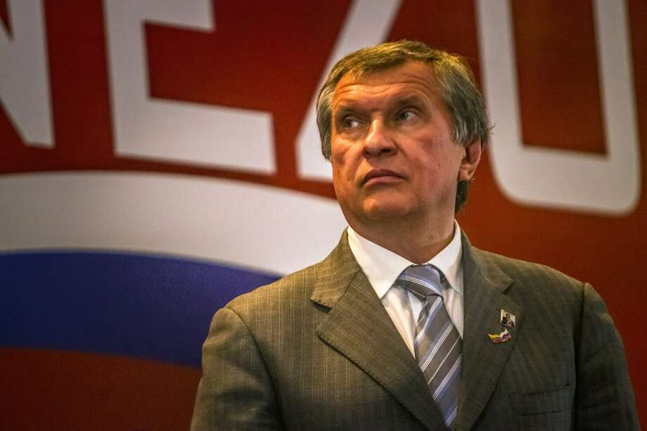16. Rosneft -- majority state-owned oil company of Russia  2012 rank -- 19  [Photo: Igor Sechin, chief executive officer of OAO Rosneft, listens during the first Russia-Venezuela Oil Congress on Margarita Island in Nueva Esparta, Venezuela in November 2013.] Photo: Meridith Kohut, Bloomberg