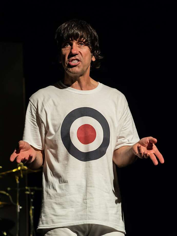 "Mick Berry as Keith Moon in his play ""Keith Moon: The Real Me."" Photo: Rick Markovich"