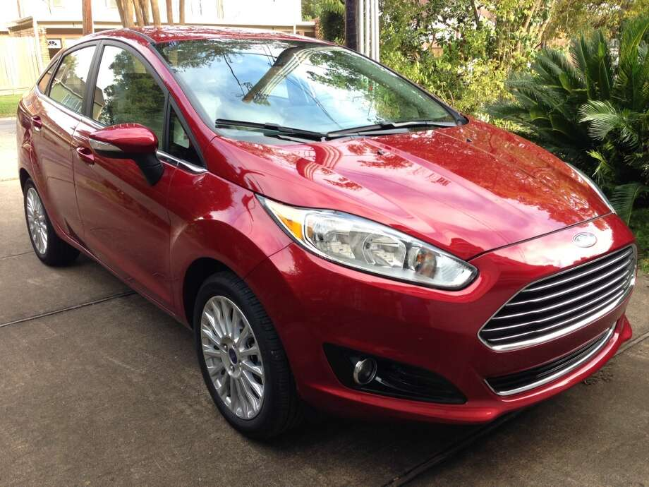 The 2014 Ford Fiesta is pretty sexy for a low-priced car. Photo: Dwight Silverman, Houston Chronicle