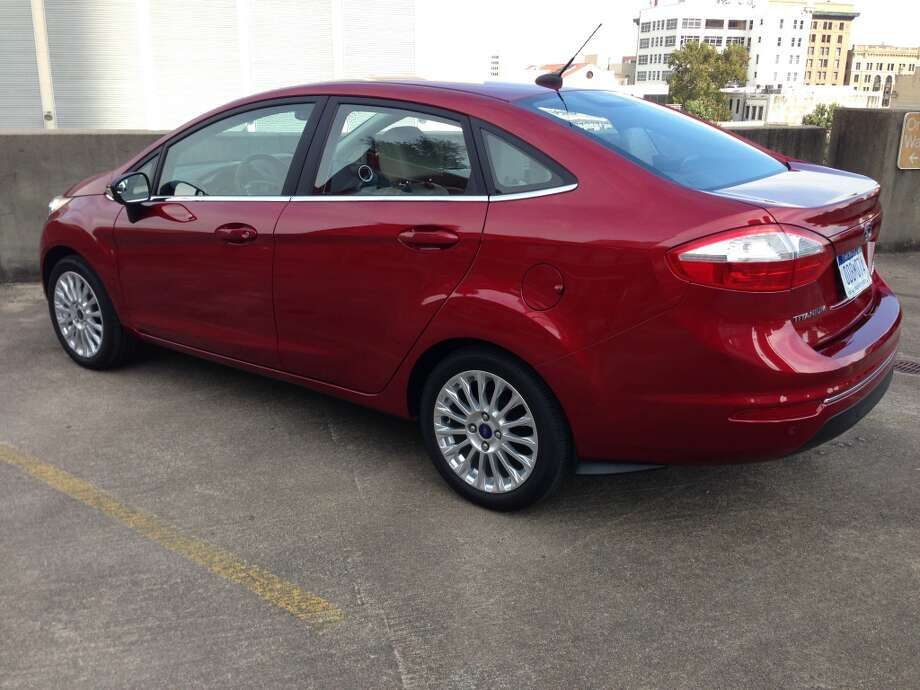 The 2014 Ford Fiesta Titanium has sleek styling. Photo: Dwight Silverman, Houston Chronicle