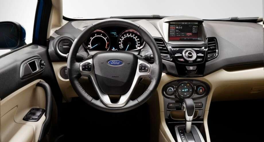 The Fiesta Titanium's dash. Photo: Ford