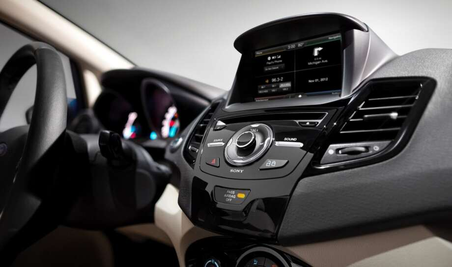 The Sync with MyFord Touch screen sits above the center console stack. Photo: Ford