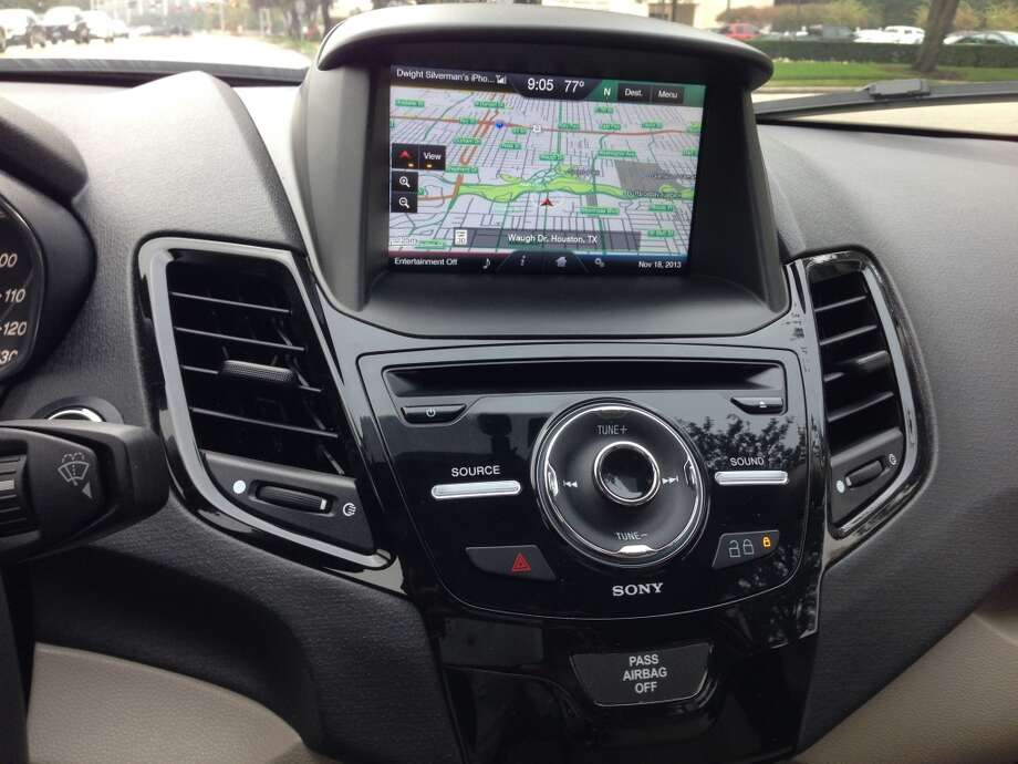 The Fiesta's navigation system. Photo: Dwight Silverman, Houston Chronicle