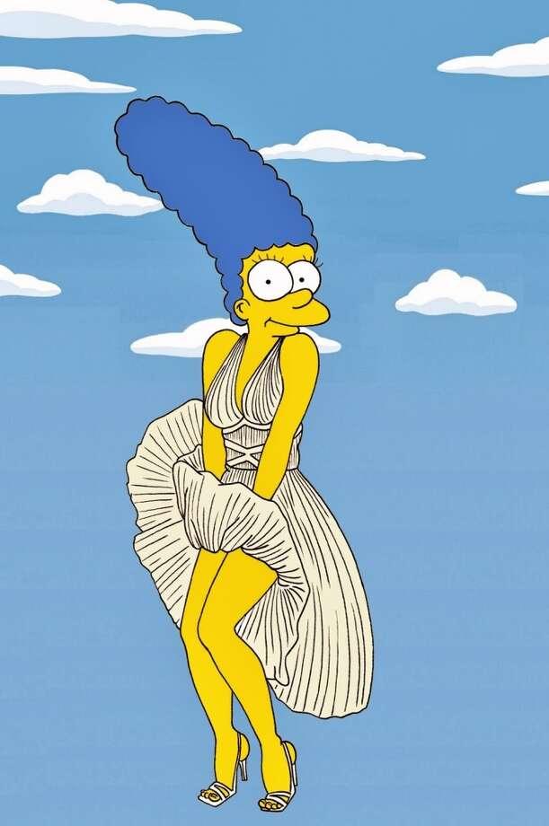 Marge Simpson as Marilyn Monroe. Photo: Courtesy, Alexsandro Palombo