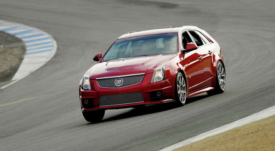 "Cadillac CTS-V Sport WagonIt's got guts... and your grandfather would approve.Top speed: 179 m.ph. Photo: Handout From Manufacturer / License Agreement - Please read the following important information pertaining to this image. This GM image is protected by copyright and is provided for use under a Creative Commons 3.0 License* for the purpose of editorial comment only. The use of this image for advertising, marketing, or any other commercial purposes is prohibited. This image can be cropped, but may not be altered in any other way, and each should bear the credit line ""© GM Co."" General Motors makes no representations with respect to the consent of those persons appearing in these photos, or with regard to the use of names, trademarks, trade dress, copyrighted designs or works of art or architecture that are not the intellectual property of General Motors.  *The applicable Creative Commons 3.0 License can be found at http://creativecommons.org/licenses/by-nc/3.0"