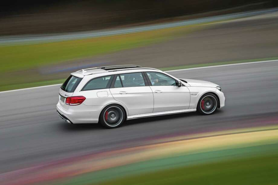 Mercedes-Benz E63 AMG WagonDon't let the blistering speed make you forget about all the luxurious leather and wood inlays.Top speed: 186 m.p.h. Photo: Daimler AG - Global Communications Mercedes-Benz Cars, Handout From Manufacturer / press photo, do not use for advertising purposes