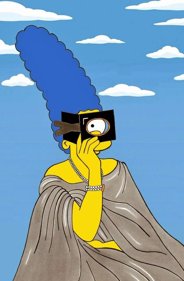 Marge Simpson as Virginia Oldoini, Countess of Castiglione. Photo: Courtesy, Alexsandro Palombo