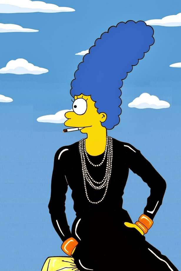Marge Simpson as Coco Chanel. Photo: Courtesy, Alexsandro Palombo