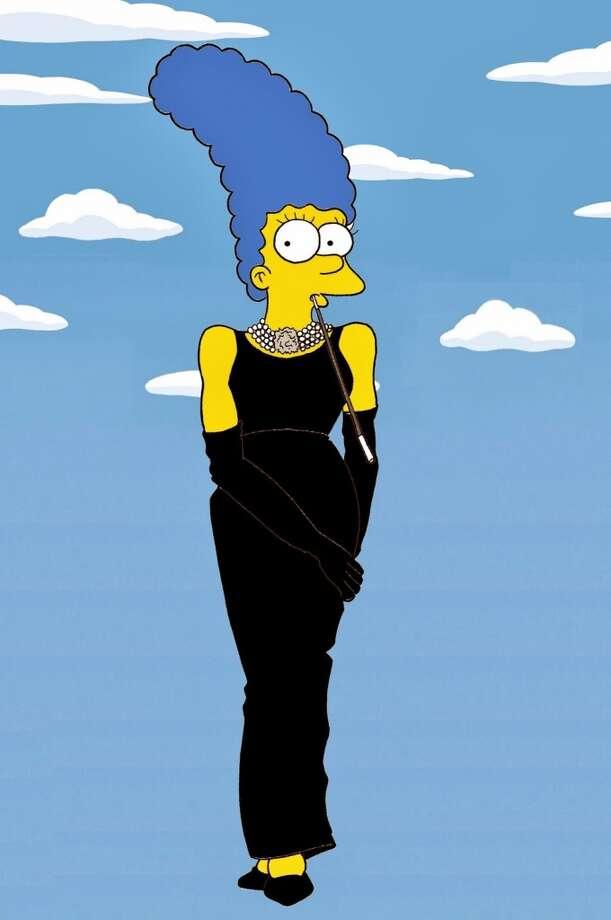 Marge Simpson as Audrey Hepburn. Photo: Courtesy, Alexsandro Palombo