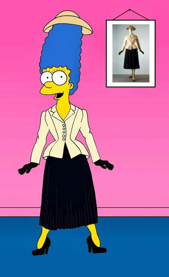 "Marge Simpson in Dior ""Bar"" suit and jacket, 1941. Photo: Courtesy, Alexsandro Palombo"