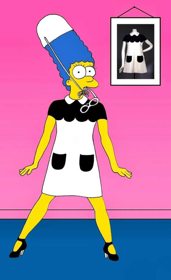 Marge Simpson in André Courrèges. Photo: Courtesy, Alexsandro Palombo
