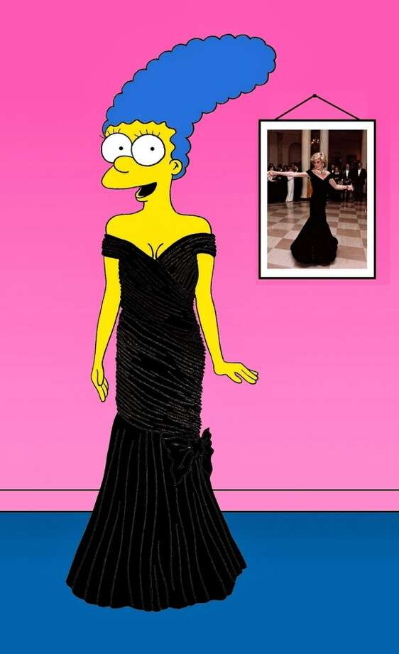 Marge Simpson as Diana, Princess of Wales. Photo: Courtesy, Alexsandro Palombo