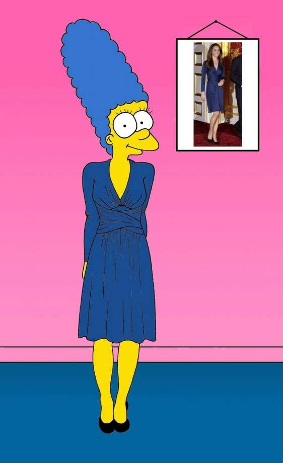 Marge Simpson as Kate Middleton on the day her engagement was announced. Photo: Courtesy, Alexsandro Palombo
