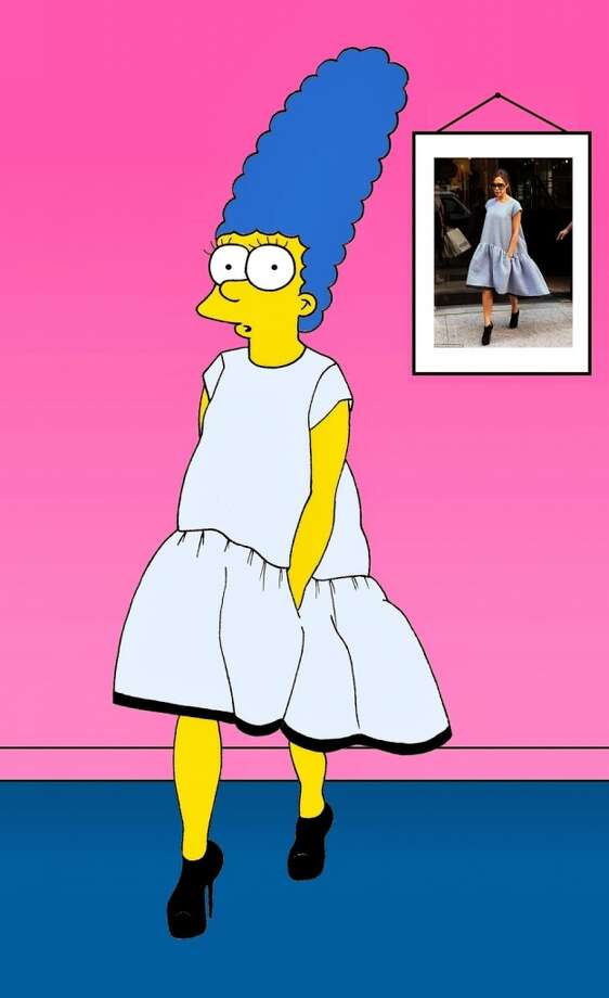 Marge Simpson as Victoria Beckham. Photo: Courtesy, Alexsandro Palombo