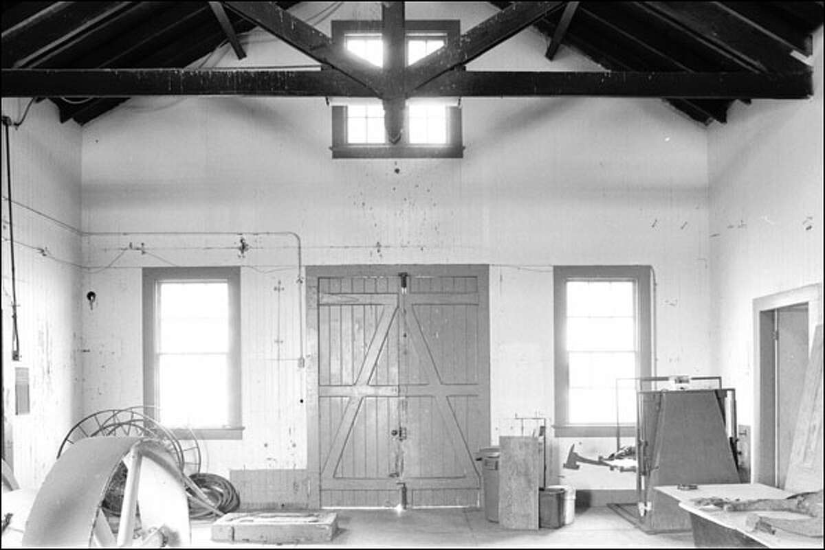 The tour begins in the horn house (pictured here in the 1900s), which actually was built for a whistle that warned sailors away from hazards before being replaced by a foghorn.