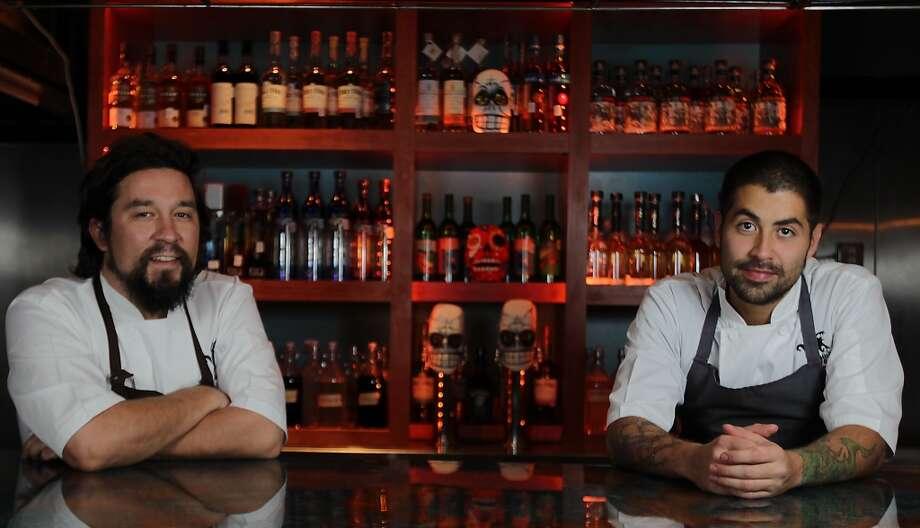 Chefs Randy Rucker left, and Ben Rabbani at El Big Bad Mexican restaurant. (James Nielsen / Houston Chronicle ) Photo: James Nielsen, Houston Chronicle