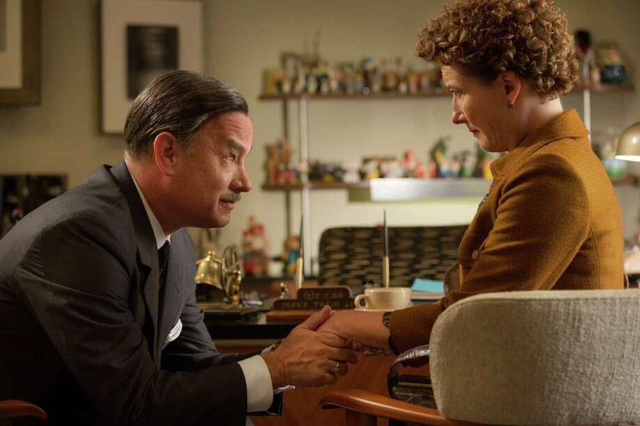 """SAVING MR. BANKS""..Walt Disney (Tom Hanks), left, and P.L. Travers (Emma Thompson), right, in Disney's ""Saving Mr. Banks,"" releasing in U.S. theaters limited on December 13, 2013 and wide on December 20, 2013...Ph: Francois Duhamel..c.Disney Enterprises, Inc.  All Rights Reserved.. Photo: Francois Duhamel / ©Disney Enterprises, Inc.  All Rights Reserved."