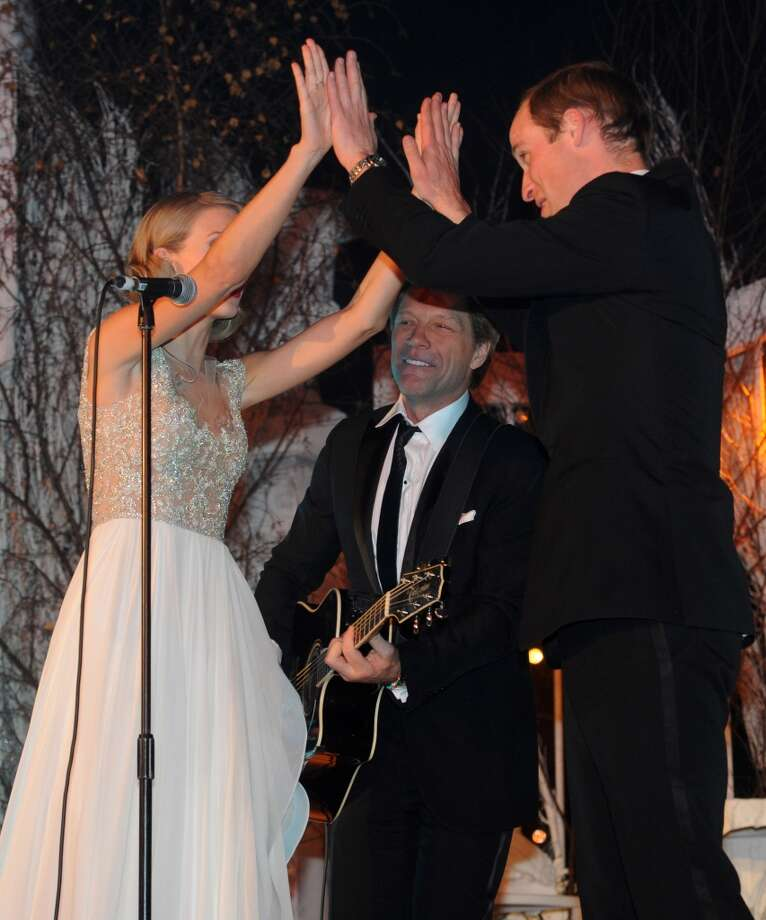 Taylor Swift, Jon Bon Jovi and Prince William, Duke of Cambridge perform during the Winter Whites Gala In Aid Of Centrepoint on November 26, 2013 in London, England. (Photo by Dave J Hogan/Centrepoint/Getty Images) Photo: Dave J Hogan/Centrepoint