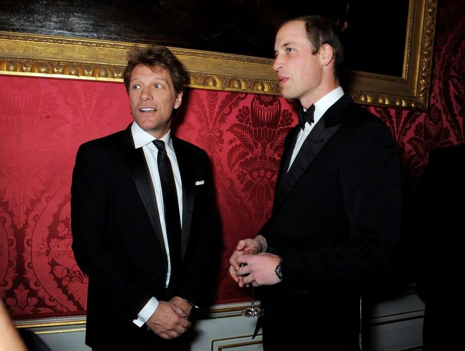 Jon Bon Jovi (L) and Prince William, Duke of Cambridge attend the Winter Whites Gala in aid of Centrepoint at Kensington Palace on November 26, 2013 in London, England.  (Photo by David M.Benett/Centrepoint/Getty Images for Centrepoint) Photo: David M.Benett/Centrepoint