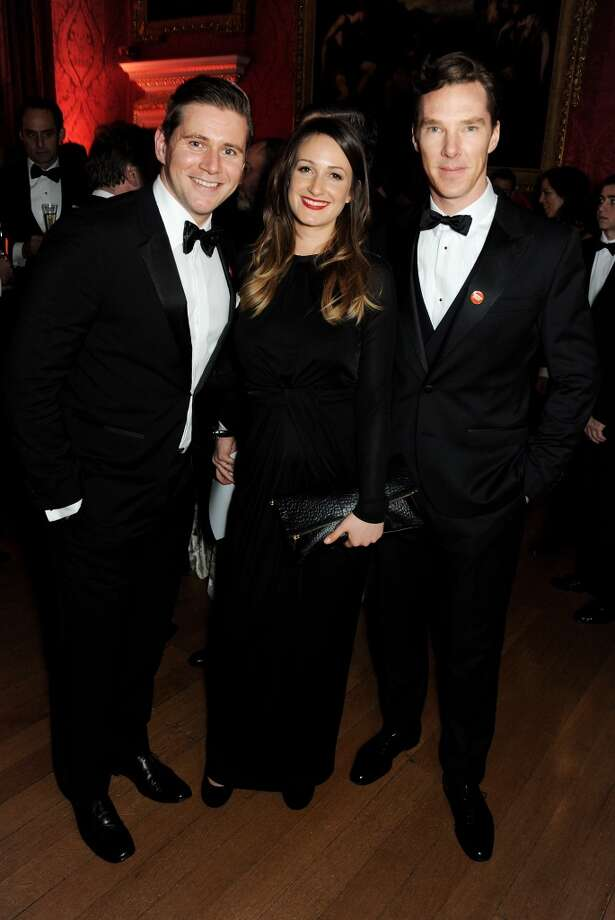 (L to R) Allen Leech, Doone Forsyth and Benedict Cumberbatch attend the Winter Whites Gala in aid of Centrepoint at Kensington Palace on November 26, 2013 in London, England.  (Photo by David M.Benett/Centrepoint/Getty Images for Centrepoint) Photo: David M.Benett/Centrepoint