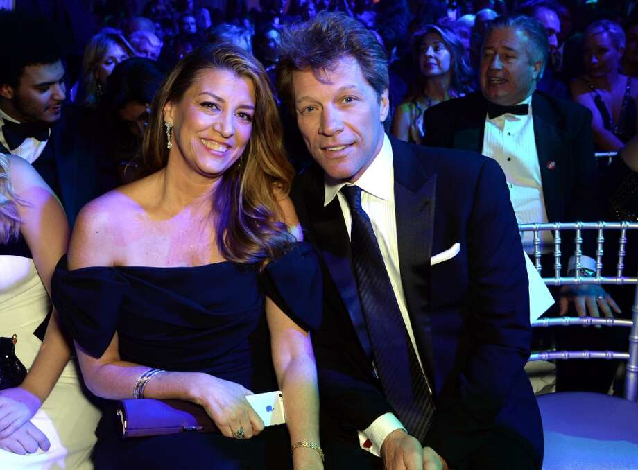 Dorothea Hurley and Jon Bon Jovi pose at the Winter Whites Gala In Aid Of Centrepoint on November 26, 2013 in London, England. (Photo by Dave J Hogan/Centrepoint/Getty Images) Photo: Dave J Hogan/Centrepoint