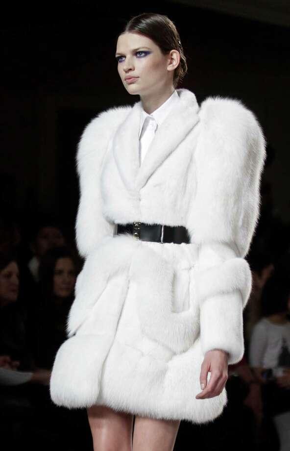 Fashion designer Jason Wu's fabulous fur on the fall/winter runway. Photo: Bebeto Matthews, STF / AP