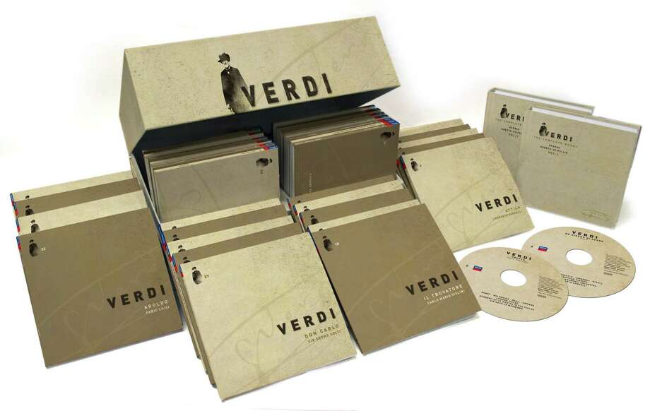 """Giuseppe Verdi: The Complete Works""""Those of us whose homes hold shelves laden with CDs and LPs of Giuseppe Verdi operas could save space with this handy 75-disc set from Decca Classics that contains all his music, released to celebrate his 200th birthday this year. Anyone else who gets a charge from Verdi can explore juicy but rarely performed operas that we may never see in a theater.""Steven Brown, classical music criticDetails: $144.73 at amazon.com. Photo: Decca Classics"