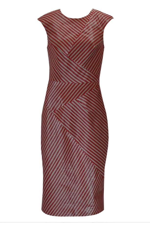 Zeebo dressin garnet stripes by CrOp by David Peck; $375 atdavidpeckusa.com. / David Peck USA